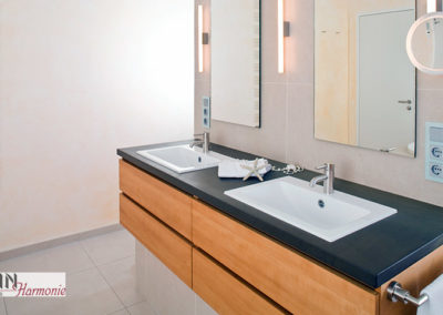 Badezimmer Waschtisch | Doppelwaschbecken | Schreinerarbeit