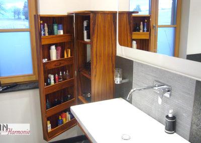 Runder Badezimmerschrank | Schreinerarbeit