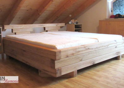 Bett aus Natureiche | Schreinerarbeit