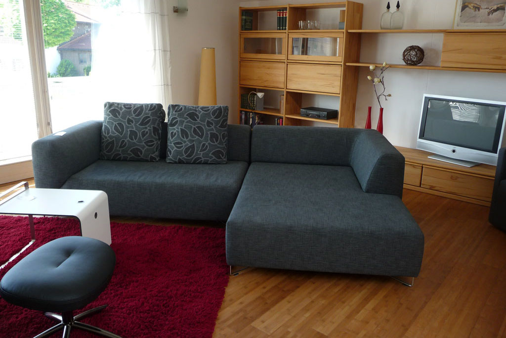 Wohnharmonie I Sofa grau